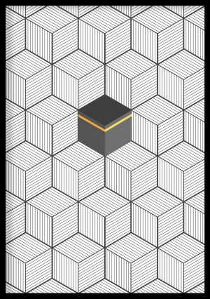 Geometric Kaabah Art