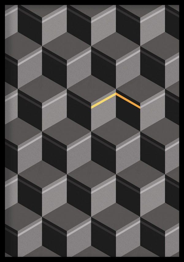 Kaabah Optical Illusion Art