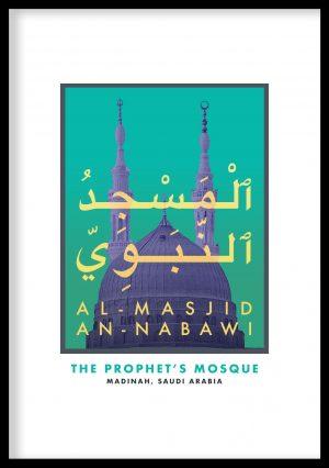 Masjid Al-Nabawi Vintage Poster