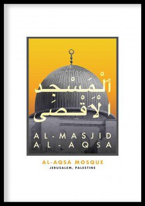 Masjid Al-Aqsa Vintage Poster