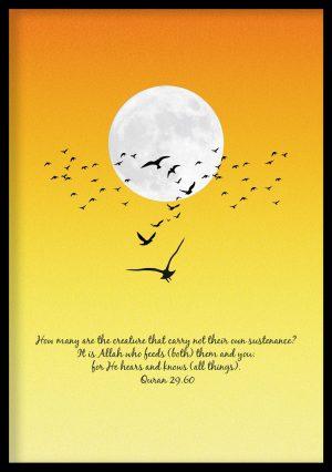 Birds Vintage Quran Poster