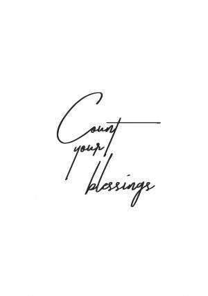 Count Your Blessings Wall Art