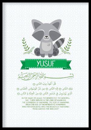 Muslim Kids Art Print, Surah An-Nas, Children Islamic Wall Art